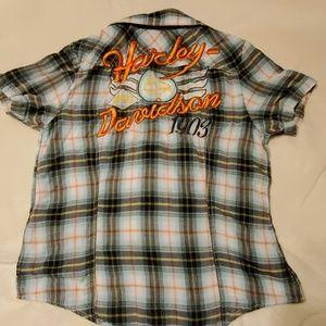 Women's Harley Davidson short sleeved top size L